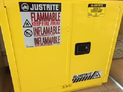 Flammable liquids cabinet