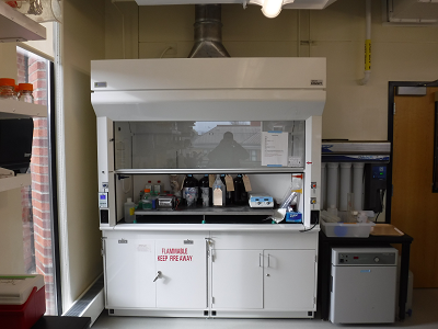 Fume hood in lab