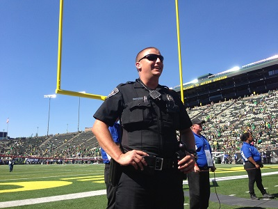 Law enforcement at Autzen stadium