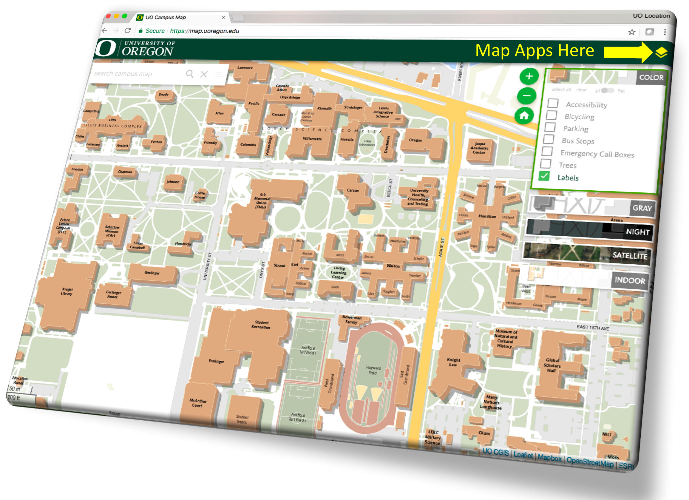 campus map university of oregon The Campus Map Safety And Risk Services campus map university of oregon